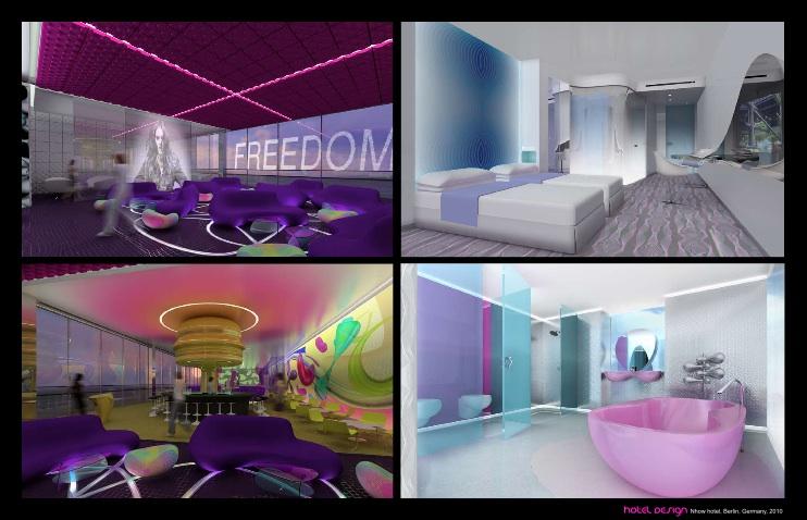 Hotelräume von Karim Rashid