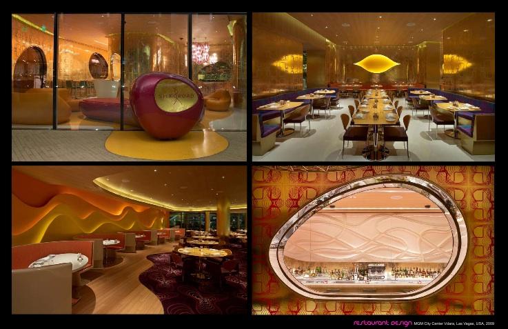 Restaurant-Architektur von K. Rashid